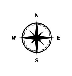 compass icon black isolated flat symbol vector image