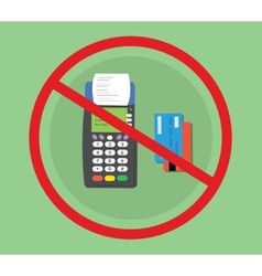 Credit debit card machine hacked vector