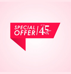 Discount special offer up to 45 off label vector