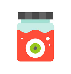 eye ball in blood jar halloween related icon flat vector image