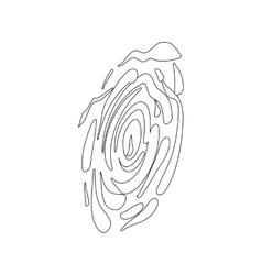 Fingerprint icon isometric 3d style vector