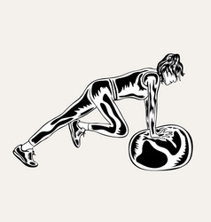 fitness woman sport activity vector image