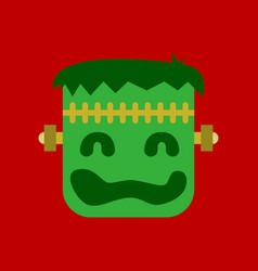 Flat icon on stylish background halloween monster vector