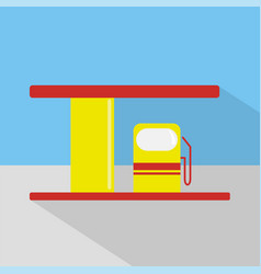 gas station icon set of great flat icons design vector image