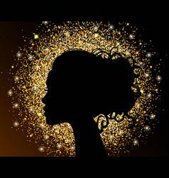 Gold dust glitter for design vector