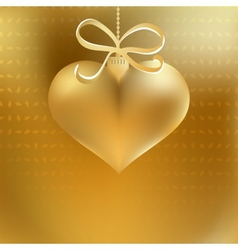 Golden christmas heart decoration EPS8 vector image