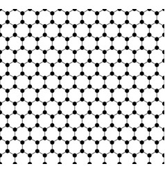 Graphene seamless pattern carbon lattice black vector