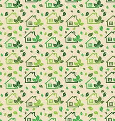 Green eco background made of small ecology green h vector image
