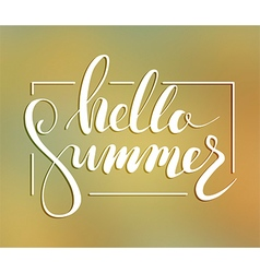Hallo summer lettering vector image vector image