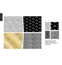 Hand drawn patterns - pieces vector