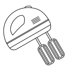 Hand mixer icon outline style vector