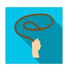 Hand with lasso icon in flat style isolated on vector