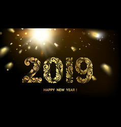 happy new year card with a black background vector image