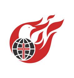 Holy spirit sent down to world vector