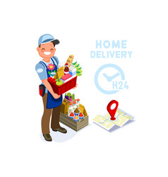 Home delivery safe deliver symbol vector