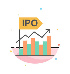 ipo business initial modern offer public abstract vector image