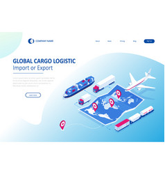 Isometric global logistics network concept vector