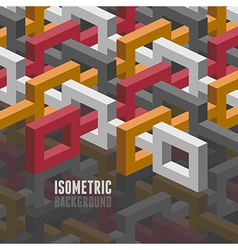 Isometry background vector
