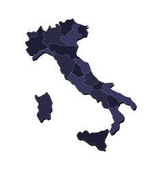 Italy map with regions vector