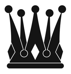 kingly crown icon simple style vector image