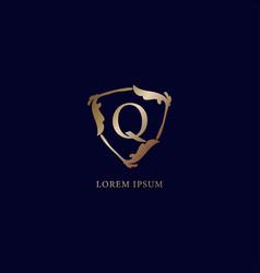 Letter q alphabetic logo design template isolated vector