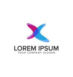 letter x modern logo design concept template vector image