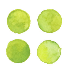 Light green watercolor stain vector