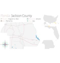 Map jackson county in florida vector