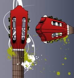 Neck guitar vector