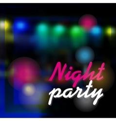 Night party dark background vector