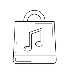 Online music store line icon vector