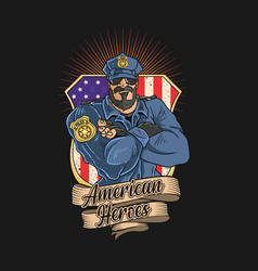 police are heroes america vector image