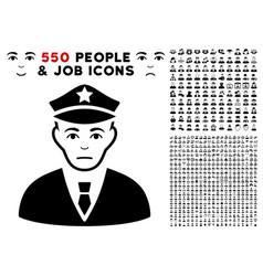 policeman icon with bonus vector image