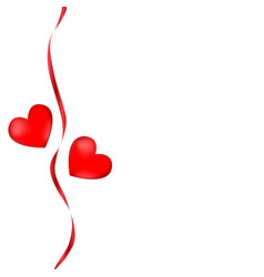 postcard two hearts valentines day wedding vector image