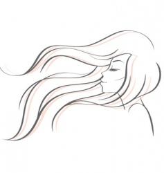 profile women vector image