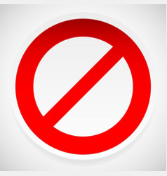 Prohibition deny sign vector