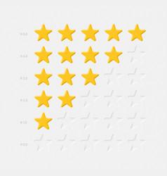 rating stars icons set light neumorphic design vector image