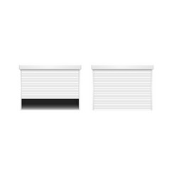 realistic detailed 3d white shutter door or vector image