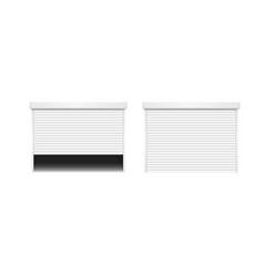 realistic detailed 3d white shutter door vector image