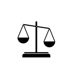 scale justice simple black icon on white vector image