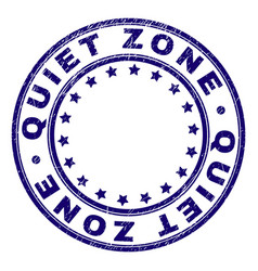 Scratched textured quiet zone round stamp seal vector