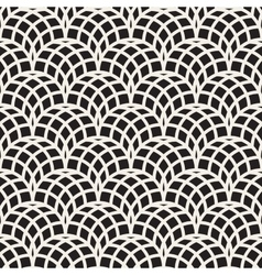 Seamless Black and White Arc Shape Line vector