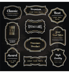 set 6 of design elements sample labels shapes vector image