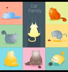Set cat family vector