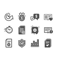 Set education icons such as payment received vector