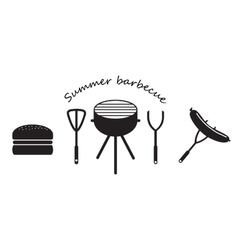 set of Icons BBQ vector image