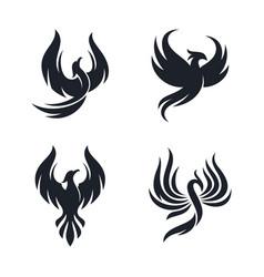 sets phoenix logo design template vector image