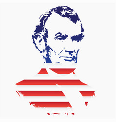 Silhouette of abraham lincoln from the texture of vector