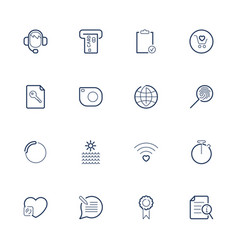 simple different web icons set icons for app vector image