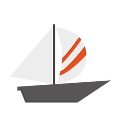 Simple sailboat icon vector